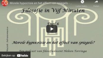 Mini-podcast: Filosofie in 5 minuten: Morele hypocrisie en het effect van spiegels (deel 6 – slot)